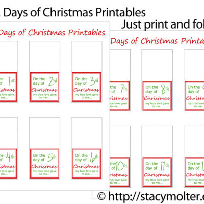 12 Days of Christmas Gifts for Him + Free Printable