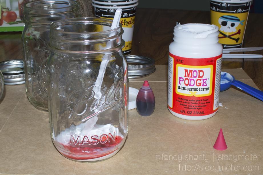 DIY Color Mason Jars