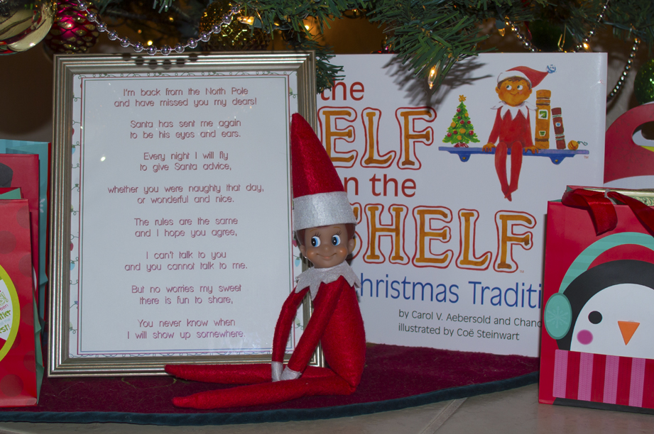 Elf on the Shelf Ideask for Kids Day 1
