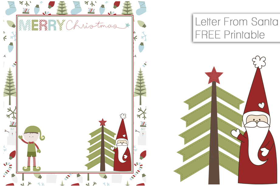Free printable letter from santa fancy shanty free printable letter from santa spiritdancerdesigns Gallery
