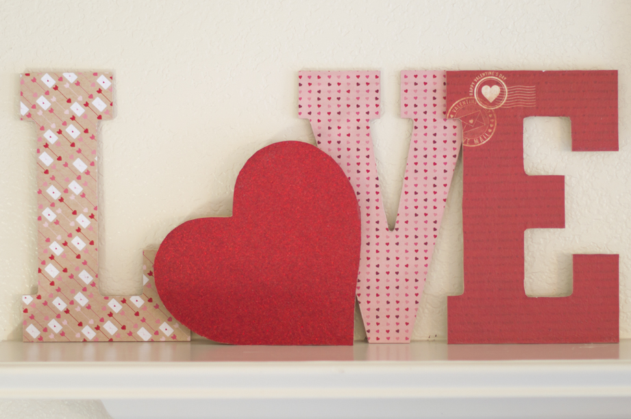 Decoupage LOVE Letters