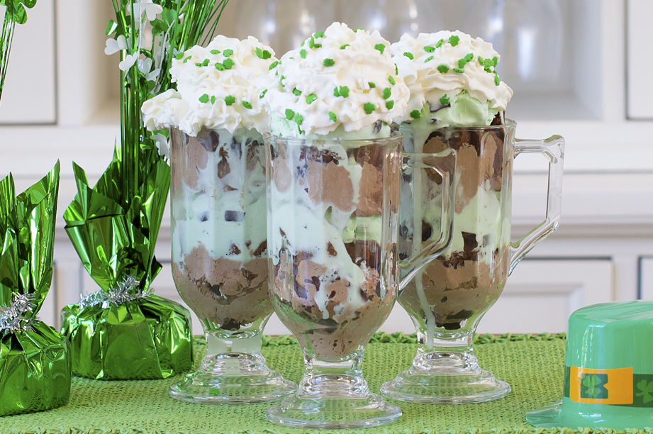 Chocolate Mint Shamrock Parfait