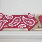 Floral Paisley Valentine's Arrow