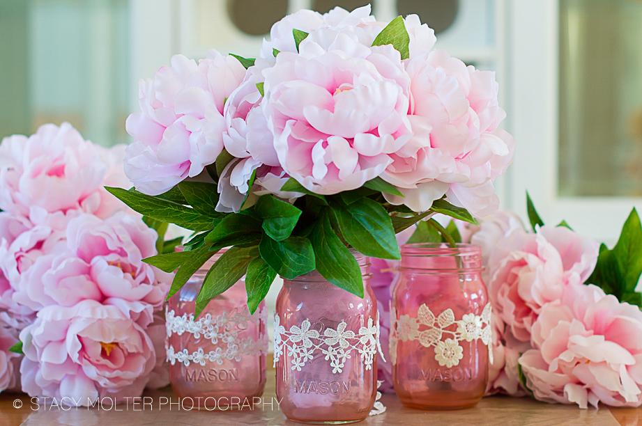Mother's Day Color Mason Jar Flower Bouquets #12monthsofmartha