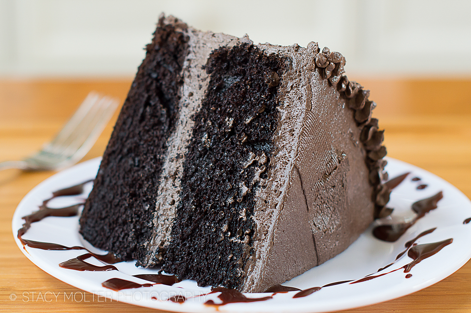 Dark Chocolate Cake With Coffee Frosting
