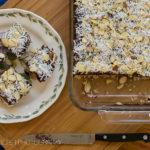 Almond Joy No Bake Cookie Bars with Dark Chocolate Ganache