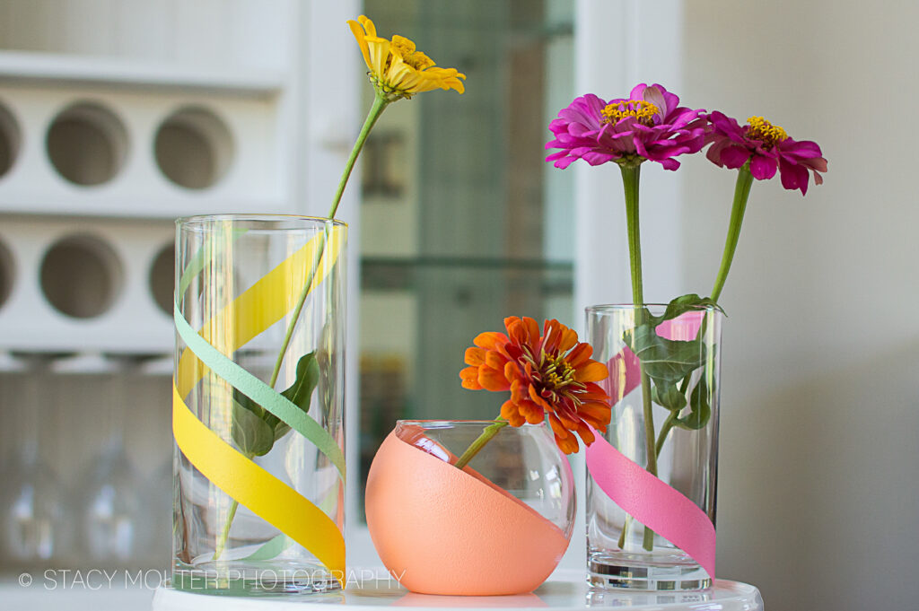 DIY Painted Vases #12MonthsOfMartha