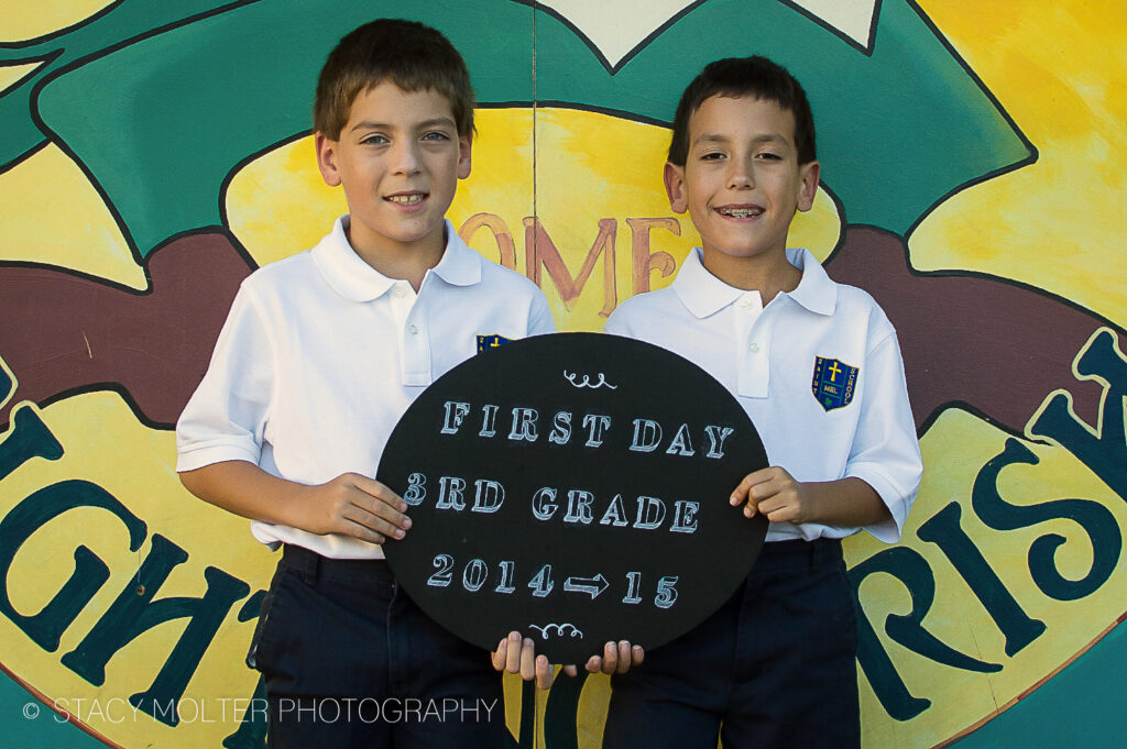 First Day of School Signs with Martha Stewart Liquid Chalk Paint #12MonthsofMartha