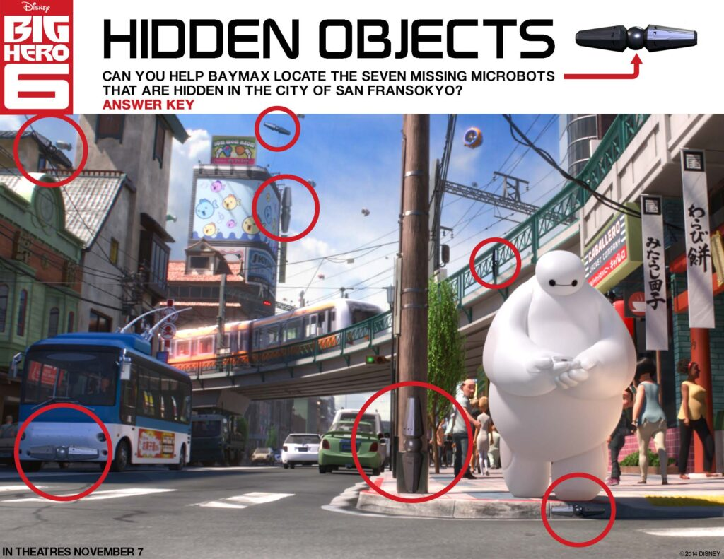 Free Printable Big Hero 6 Activity Sheets #BigHero6 #MeetBaymax