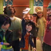"""BIG HERO 6"" Pictured (L-R): GoGo Tomago, Wasabi, Hiro, Tadashi, Honey Lemon, Fred. ?2014 Disney. All Rights Reserved."