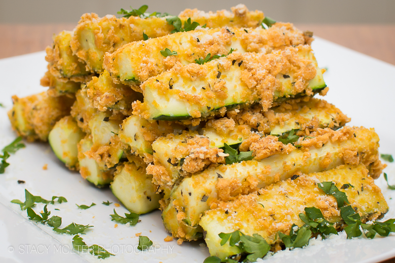 Baked Cheddar and Parmesan Zucchini Sticks • Fancy Shanty