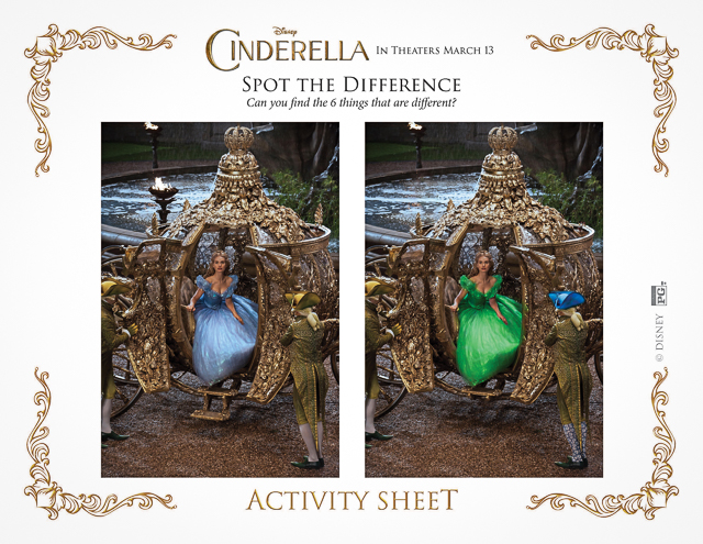 Free Printable Cinderella Activity Sheets