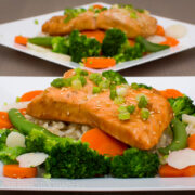Asian Salmon with Rice
