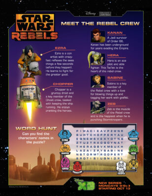 Star Wars Rebels Activity Sheets