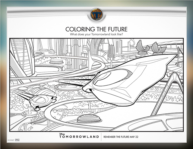Free Printable Tomorrowland Coloring Pages & Activities