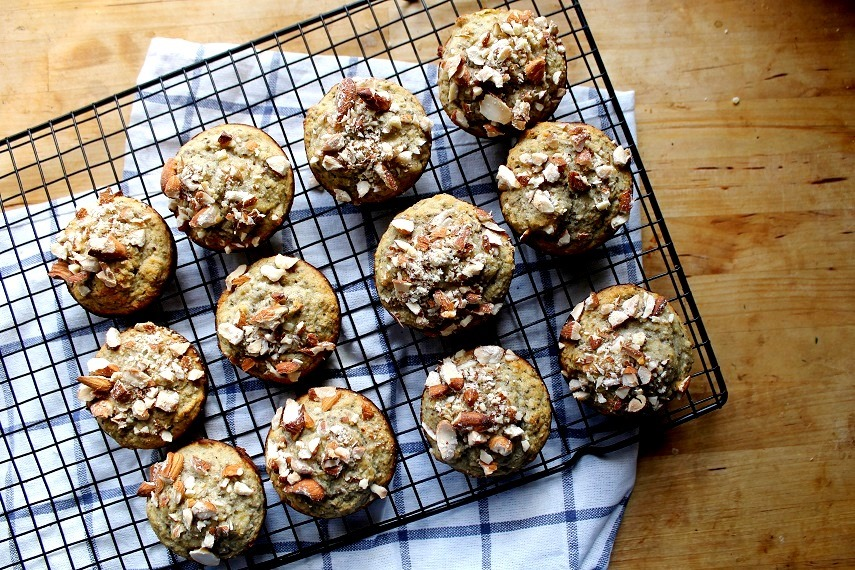 Gluten Free Buckwheat and Almond Flour Banana Nut Muffin Recipe
