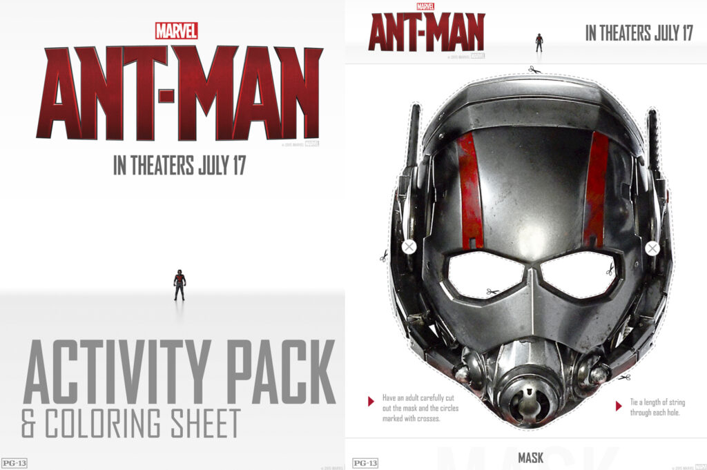 FREE Printable Ant-Man Activity Pages and Coloring Sheets