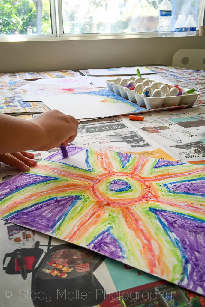Buttermilk Chalk Art Kids Activity | Fancy Shanty Stacy Molter P