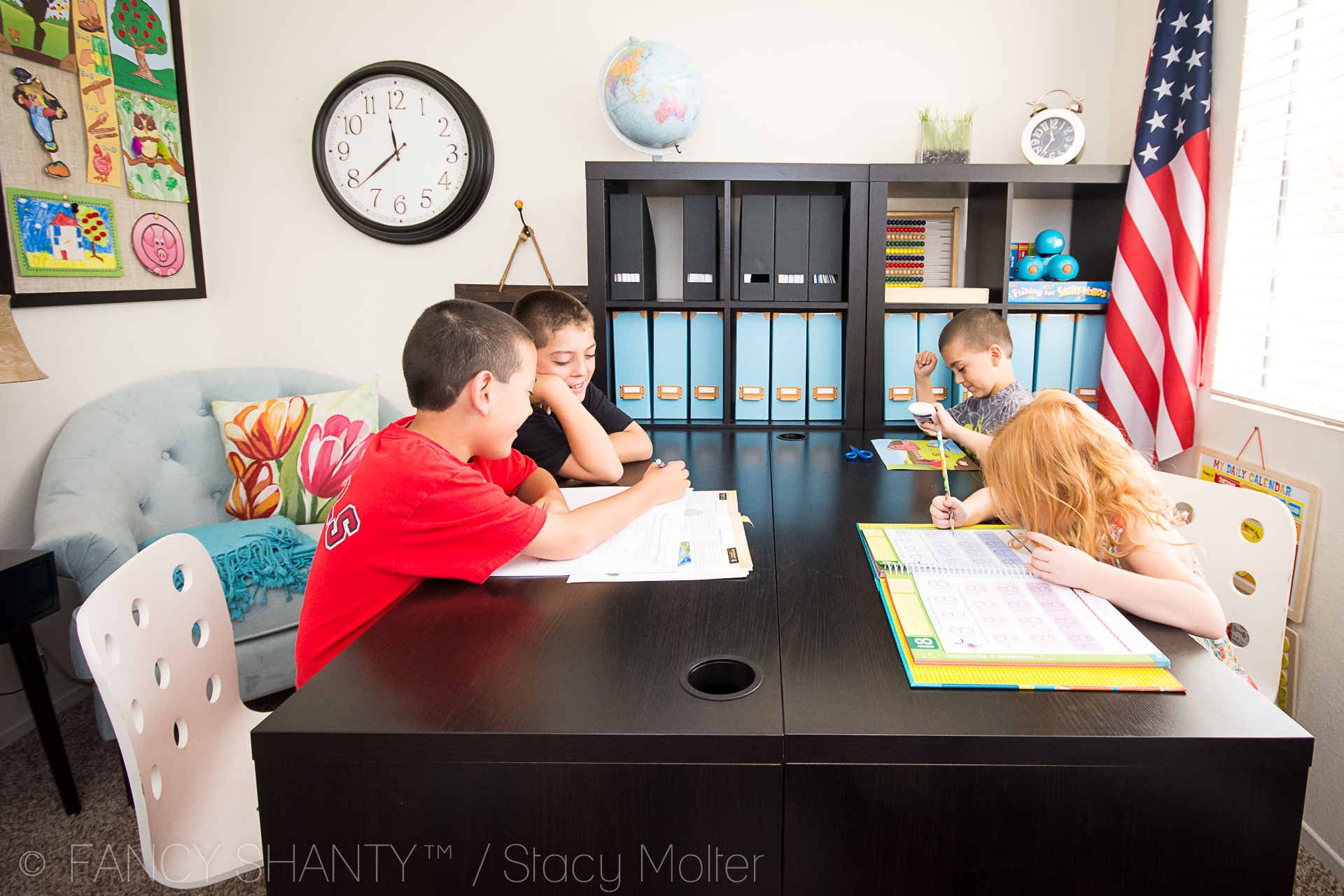 Homey Classroom Decor ~ Elementary grade homeschool schedule fancy shanty