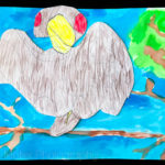 Homeschooling: Scribble Drawings and Painting Watercolor
