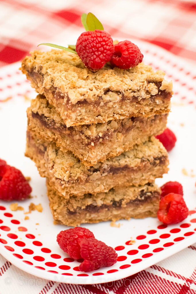 Raspberry Crumb Bars - A Berry Delicious