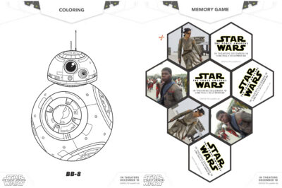 The Ultimate Star Wars Episode 7 The Force Awakens Set of Free Printable Activity Sheets
