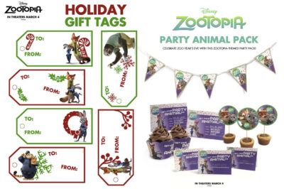 Zootopia Holiday Themed Activity Sheets - Free Printables for Christmas & New Years