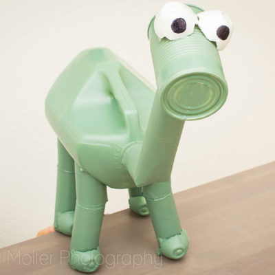 DIY The Good Dino Arlo Recyclosaurus Craft