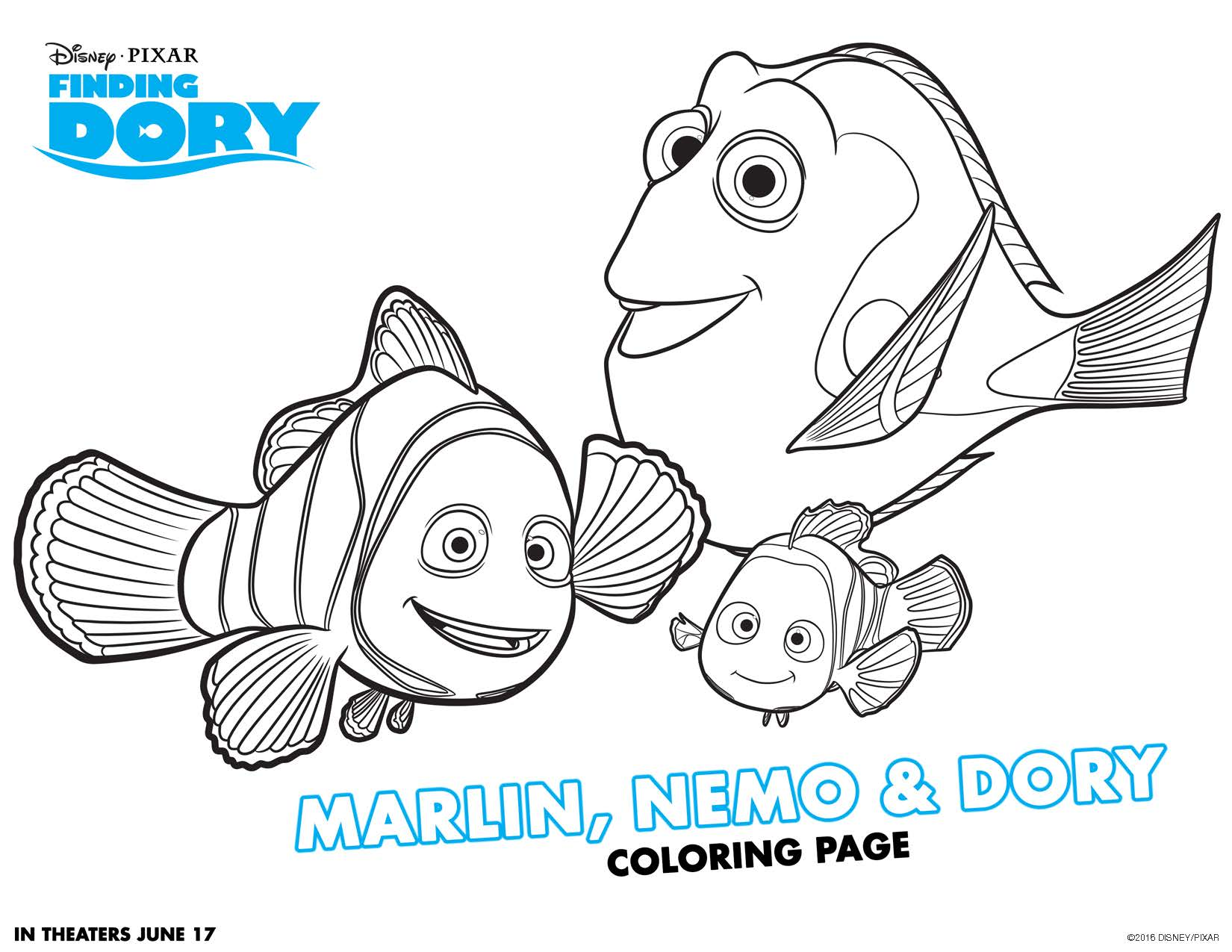 free finding dory coloring pages and activity sheets fancy shanty
