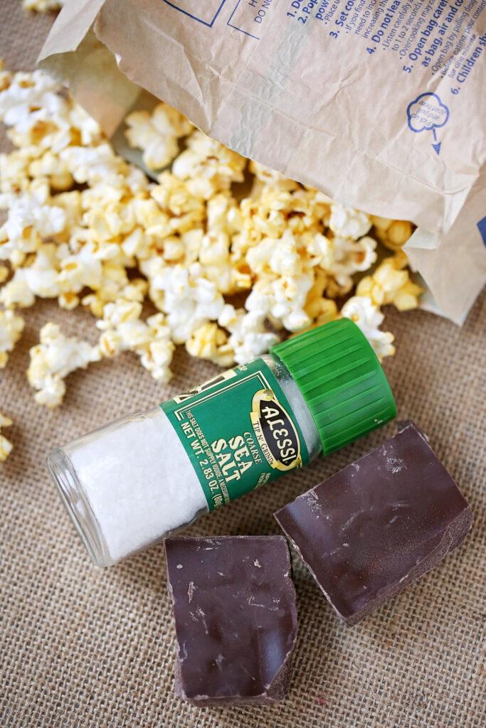 Salted Dark Chocolate Popcorn Recipe