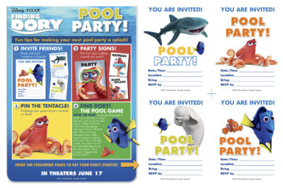 FREE Finding Dory Party Supplies and Games