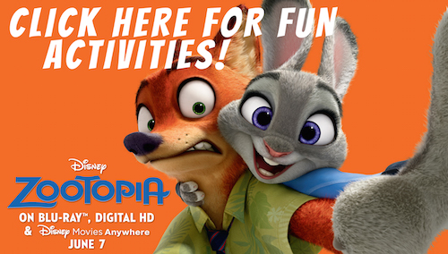 Zootopia Activity Pages