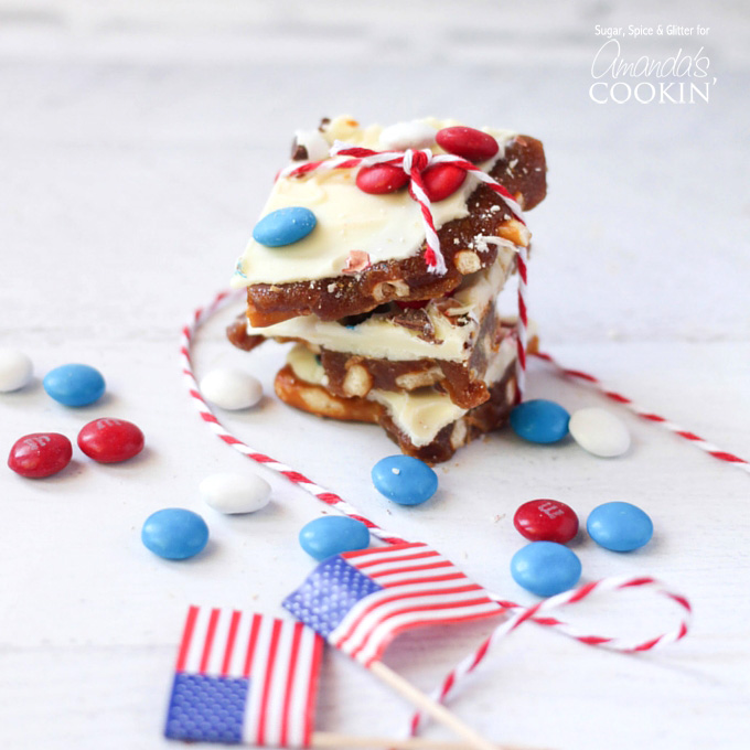 Patriotic Candy Bark
