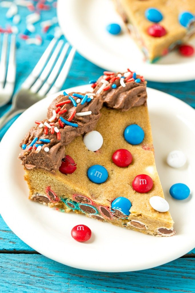 Patriotic Cookie Cake