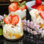 Key Lime Ice Cream with Bourbon & Strawberry