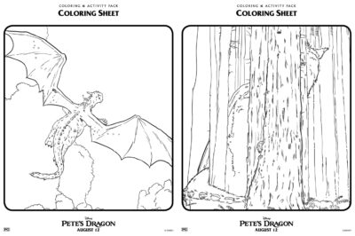 Pete's Dragon Coloring Pages