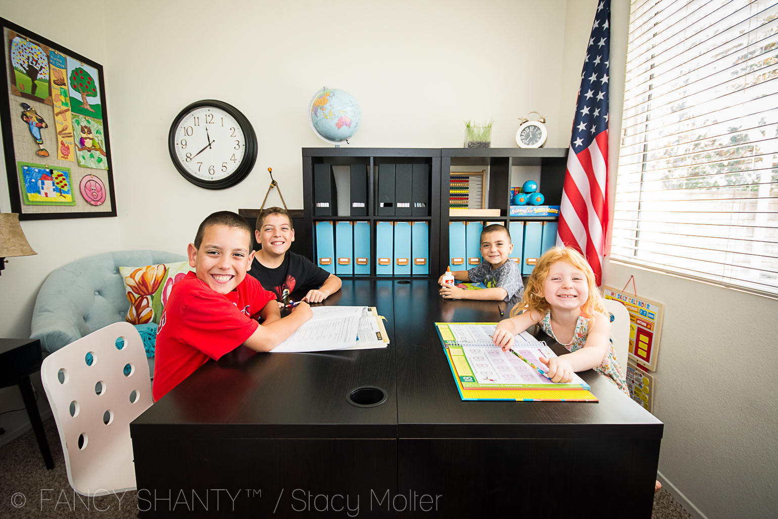 Homey Classroom Decor ~ Homeschool classroom decorating ideas and must haves