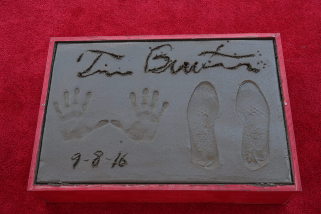 """A view of the Tim Burton Hand & Footprint Ceremony presented by 20th Century Fox in celebration of his newest film """"Miss Peregrine's Home for Peculiar Children"""" at the TCL Chinese Theatre in Los Angeles, CA on September 8, 2016. (Photo: Alex J. Berliner/ABImages)"""