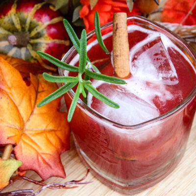 Spiced Cider & Cran-Bourbon Cocktail