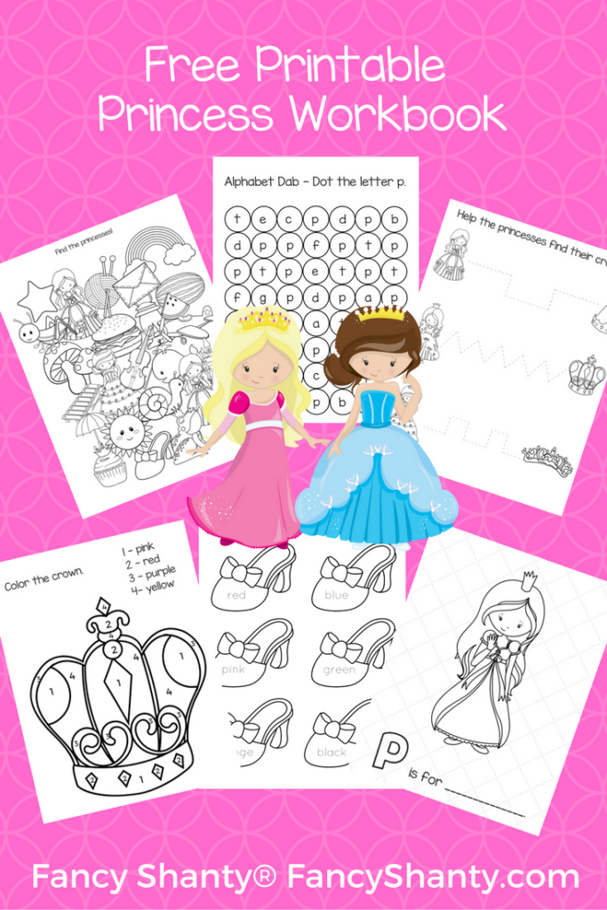 Free Big Preschool Workbook Download - For Girls
