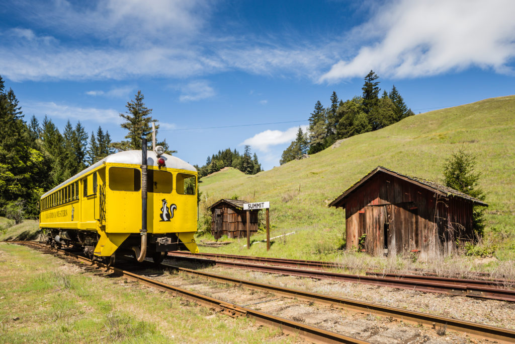 Take a Journey Through the Mendocino Redwoods Aboard the Skunk Train