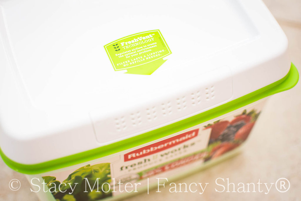 Keep Spring Produce Fresh with Rubbermaid FreshWorks Container