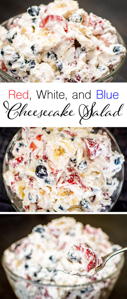 Red, White, and Blue Cheesecake Salad