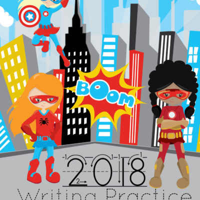 Free Printable 2018 Calendar – Super Hero Boys & Girls