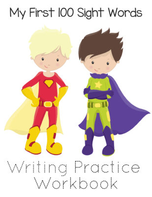 Free Printable 100 Sight Words List - Super Heroes for Boys & Girls