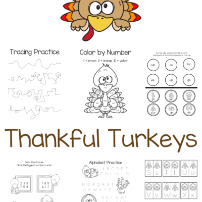 Thankful Turkeys – Free Thanksgiving Printables
