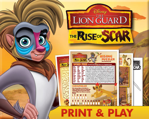 Disney's The Lion Guard: Rise of Scar Activity Sheets