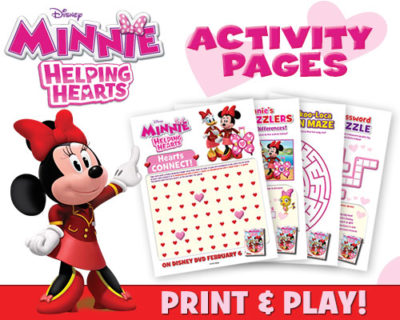 Minnie Helping Hearts Activity Pages