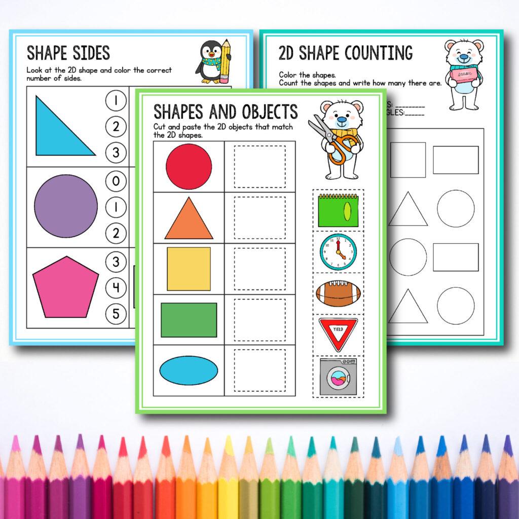 Free Preschool & Kindergarten Shapes Worksheets for Toddlers