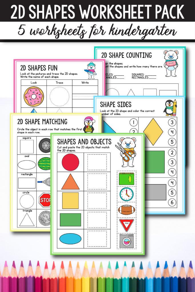 Free Preschool & Kindergarten Shapes Worksheets